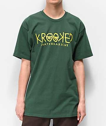 Krooked Eyes Green T-Shirt