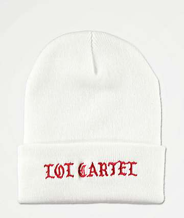 LOL Cartel Concert White Beanie