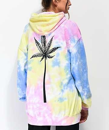 LOL Cartel High sudadera con capucha tie dye