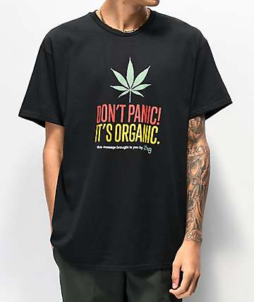 LRG Don't Panic Black T-Shirt