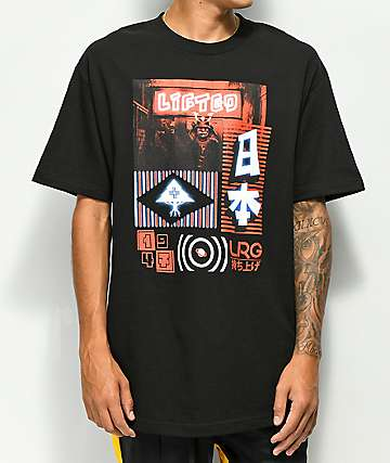 LRG Neon Sign Black T-Shirt