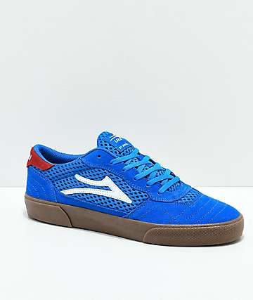 Lakai Cambridge Blue & Gum Suede Skate Shoes