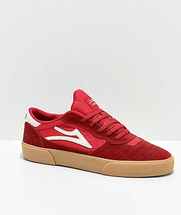 Lakai Cambridge Red & Gum Skate Shoes