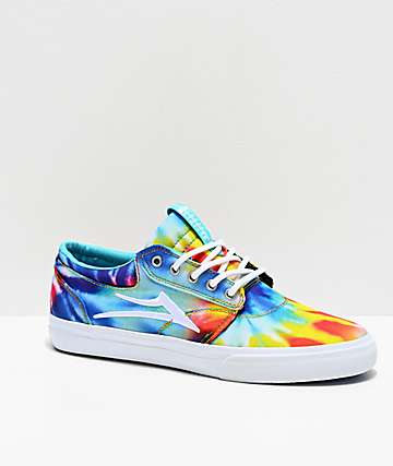 Lakai Griffin Tie Dye Canvas Skate Shoes