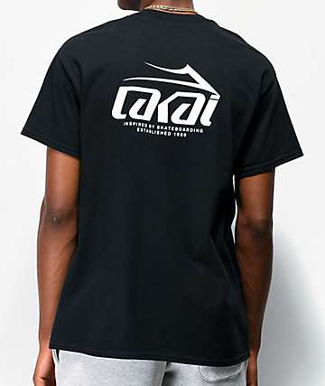 Lakai Inspired By Skateboarding Black T-Shirt