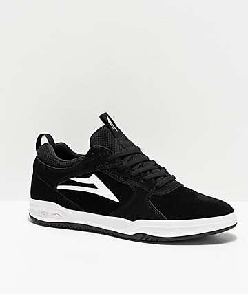 Lakai Proto Black & White Skate Shoes