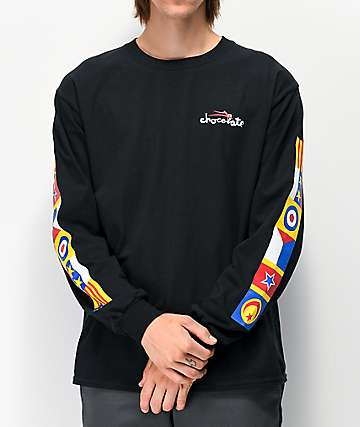 Lakai x Chocolate Flags Black Long Sleeve T-Shirt