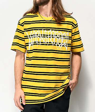 Learn To Forget Death Metal Stripe Yellow & Black T-Shirt