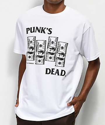 Learn To Forget Punk's Dead White T-Shirt