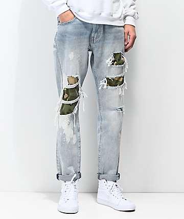 Levi's Hi-Ball Roll Camo jeans desgastados
