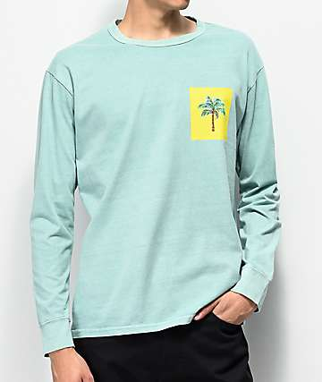 Levi's Palm Tree Mint Green Long Sleeve T-Shirt