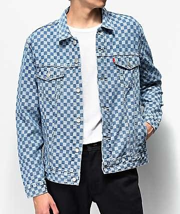 Levi's Trucker Checkered Denim Jacket