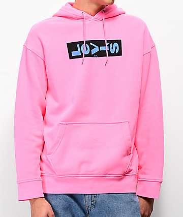 Levis Oversize Graphic Pink Hoodie