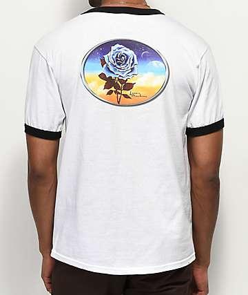 Loser Machine Chrome Rose White Ringer T-Shirt