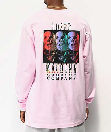Loser Machine Color Code Pink Long Sleeve T-Shirt