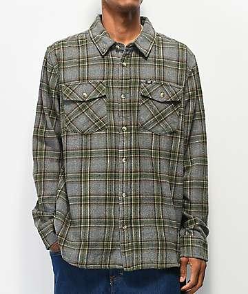 Loser Machine Julian Grey & Green Flannel Shirt