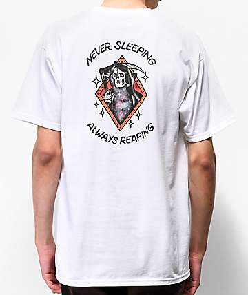 Loser Machine Never Sleeping White T-Shirt