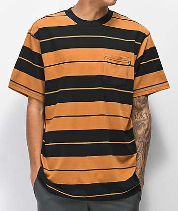 Loser Machine Rancho Black & Brown Striped T-Shirt