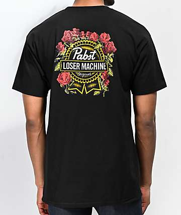Loser Machine x PBR Full Bloom Black T-Shirt