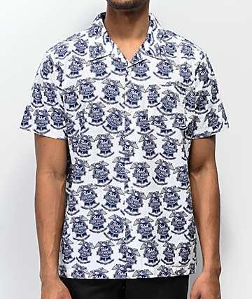 Loser Machine x PBR camisa blanca de manga corta