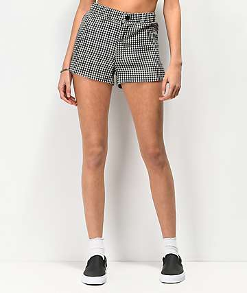 Lunachix Black & White Gingham Shorts