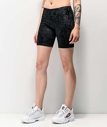 Lunachix Black Velvet Bike Shorts