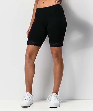 Lunachix shorts negros con encaje