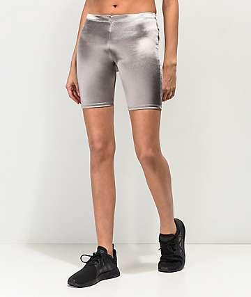 Lunachix shorts plateados para bici