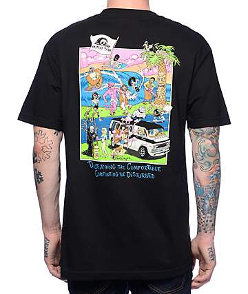 Lurking Class By Sketchy Tank Beach Black T-Shirt