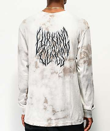 Lurking Class By Sketchy Tank Branch Logo White Tie Dye Long Sleeve T-Shirt