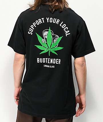 Lurking Class By Sketchy Tank Budtender camiseta negra