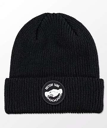 Lurking Class By Sketchy Tank Down With My Demons Black Beanie