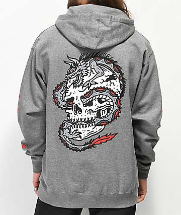 Lurking Class By Sketchy Tank Dragon Grey Hoodie