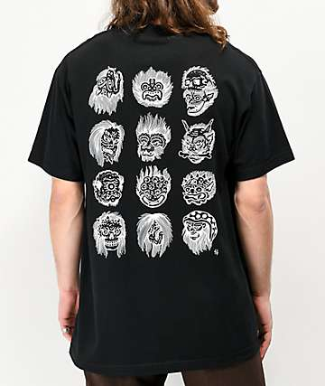 Lurking Class By Sketchy Tank Faces Black T-Shirt