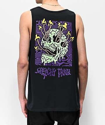 Lurking Class By Sketchy Tank Fungus camiseta negra sin mangas