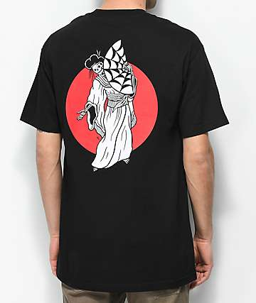 Lurking Class By Sketchy Tank Geisha Black T-Shirt