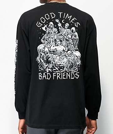Lurking Class By Sketchy Tank Good Times Bad Friends camiseta negra de manga larga
