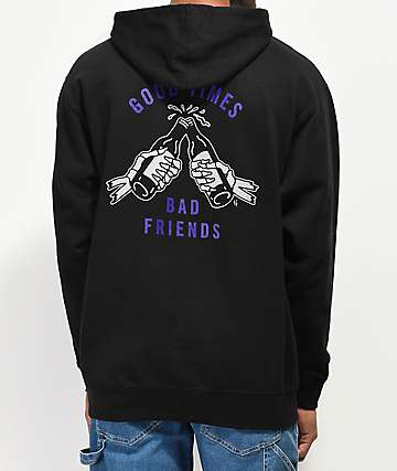 Lurking Class By Sketchy Tank Good Times Black & Purple Hoodie