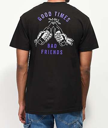 Lurking Class By Sketchy Tank Good Times Black & Purple T-Shirt