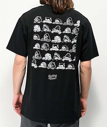 Lurking Class By Sketchy Tank Lurkers Black T-Shirt