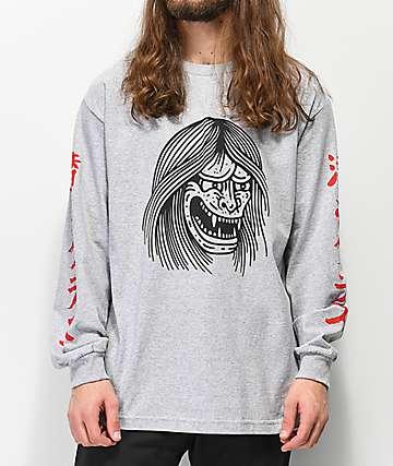 Lurking Class By Sketchy Tank Oni Grey Long Sleeve T-Shirt