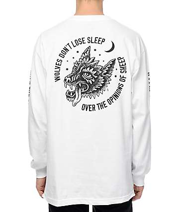 Lurking Class By Sketchy Tank Opinions White Long Sleeve T-Shirt