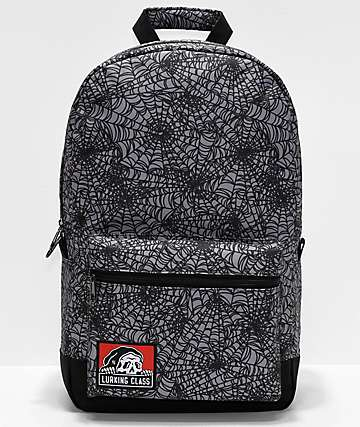 Lurking Class By Sketchy Tank Spiderweb mochila gris y negra