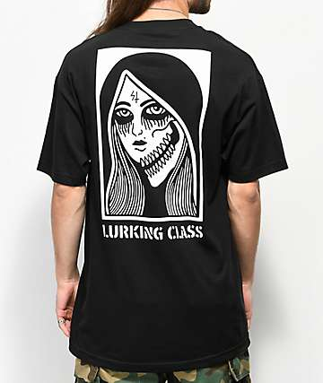 Lurking Class By Sketchy Tank Two Faced Black T-Shirt