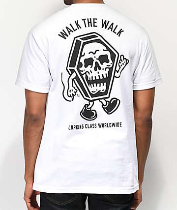 Lurking Class By Sketchy Tank Walk The Walk White T-Shirt