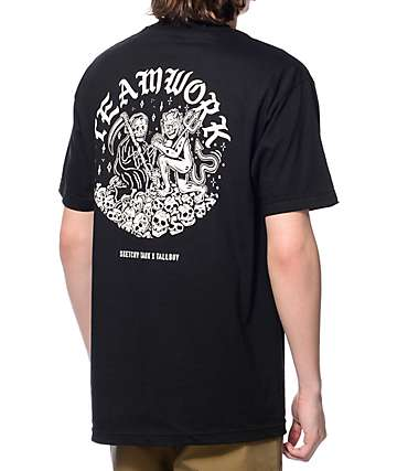 Lurking Class By Sketchy Tank x Tallboy Teamwork Black T-Shirt