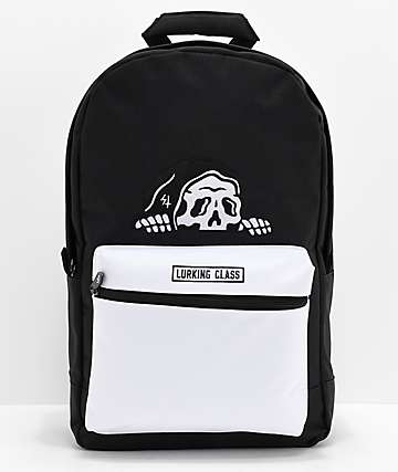 Lurking Class by Sketchy Tank Black & White Backpack