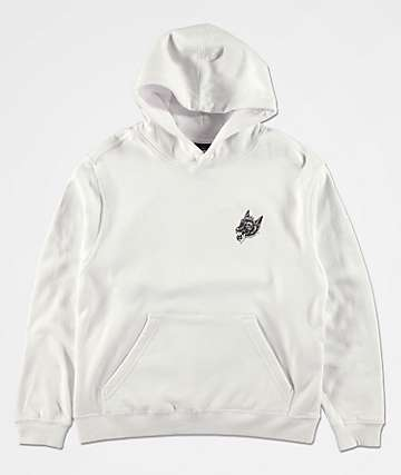 Lurking Class by Sketchy Tank Boys Opinions White & Black Hoodie