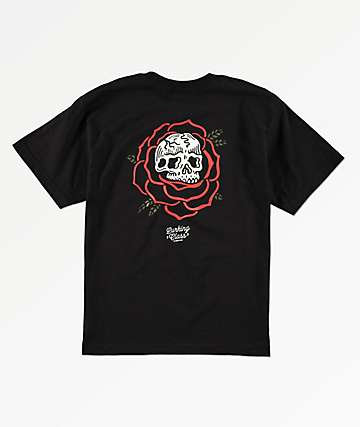 Lurking Class by Sketchy Tank Boys Rose Black T-Shirt