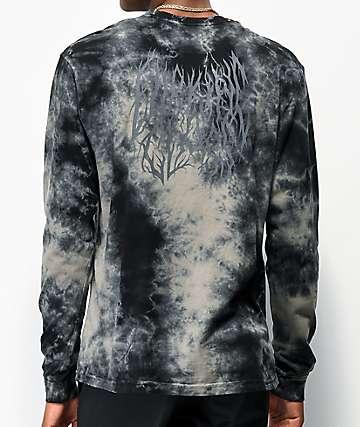 Lurking Class by Sketchy Tank Branch Logo camiseta tie dye de manga larga negra